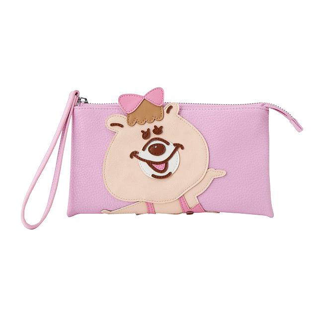 ダイカットシリーズクラッチ財布(ピンク)