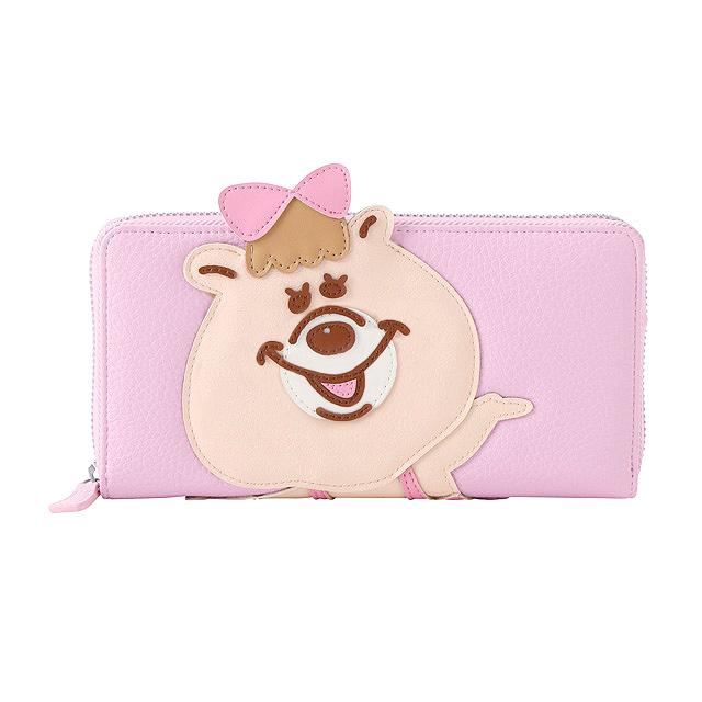 ダイカットシリーズラウンド財布(ピンク)
