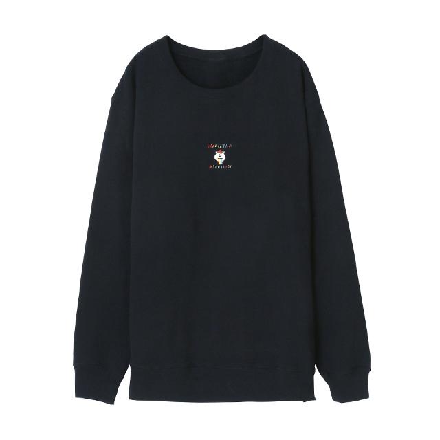 刺繍スウェット (ブラック) (1)