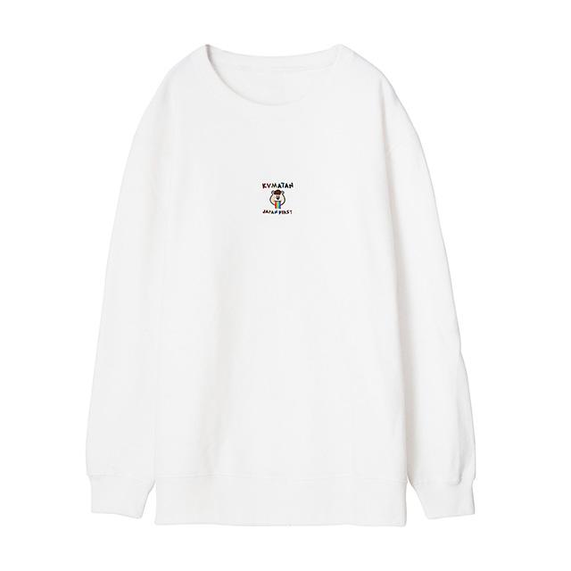 刺繍スウェット (ホワイト) (1)
